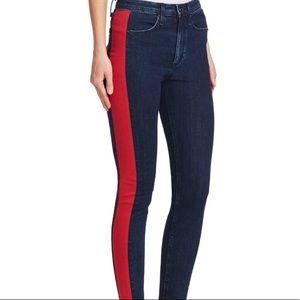 NWT rag & bone Mazie Jeans in Igloo Red & Indigo